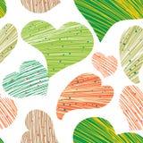 Corazones multicolores Imagen de archivo libre de regalías