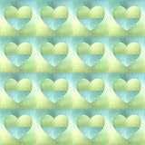 Corazones olográficos Foto de archivo