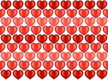 Corazones papel pintado, fondo de la tarjeta del día de San Valentín Fotos de archivo libres de regalías