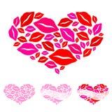 Corazones para el día de tarjeta del día de San Valentín Foto de archivo