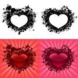 Corazones para el día de tarjeta del día de San Valentín Imagenes de archivo