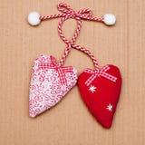 Corazones para el día de tarjeta del día de San Valentín Imagen de archivo libre de regalías