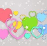 Corazones para el día de tarjetas del día de San Valentín Imagenes de archivo