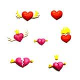 Corazones para las tarjetas del día de San Valentín Imagenes de archivo