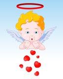 Corazones que soplan del Cupid Fotos de archivo libres de regalías