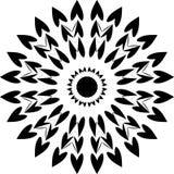 Corazones redondos del diseño, corazones comunes del diseño blanco y negro, redondo ilustración del vector