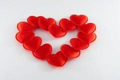 Corazones rojos Foto de archivo libre de regalías