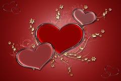 Corazones rojos stock de ilustración