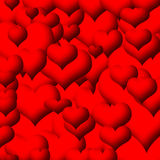 Corazones rojos Fotografía de archivo libre de regalías