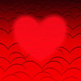 Corazones rojos Imagenes de archivo