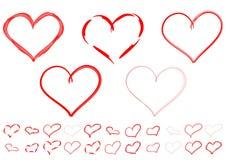 Corazones rojos. Imagen de archivo