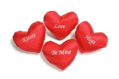 Corazones rojos del amor Fotos de archivo libres de regalías