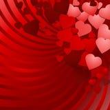Corazones rojos del amor Imagen de archivo