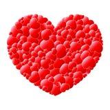 Corazones rojos del amor en un corazón ilustración del vector