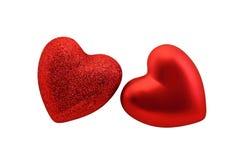 Corazones rojos para la tarjeta del día de San Valentín del St Fotografía de archivo libre de regalías