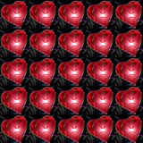 Corazones rojos plásticos imagen de archivo libre de regalías