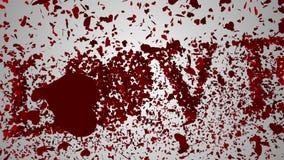 Corazones rojos que caen en la superficie blanca con el mensaje de las tarjetas del día de San Valentín stock de ilustración