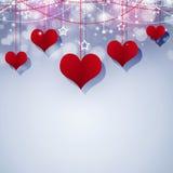 Corazones rojos Valentine Decoration Fotografía de archivo libre de regalías