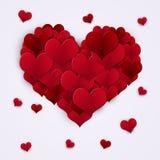 Corazones rojos Valentine Decoration Fotos de archivo