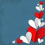 Corazones rojos y blancos Fotos de archivo libres de regalías