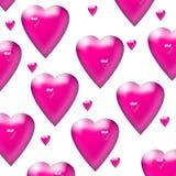 Corazones rosados fotos de archivo