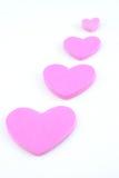 Corazones rosados Fotos de archivo libres de regalías