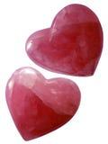 Corazones rosados aislados   Fotografía de archivo libre de regalías