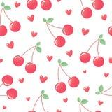 Corazones rosados de la cereza ilustración del vector