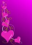 Corazones rosados de las tarjetas del día de San Valentín Foto de archivo libre de regalías