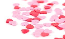 Corazones rosados y rojos Fotografía de archivo libre de regalías