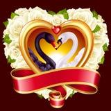 Corazones, rosas y cisnes libre illustration