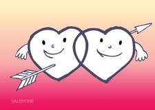 Corazones sonrientes del amor Imagenes de archivo