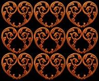 Corazones tallados Foto de archivo libre de regalías