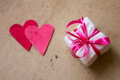 Corazones, tarjeta de felicitación del día de tarjetas del día de San Valentín Fotografía de archivo libre de regalías