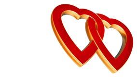Corazones transparentes del amor del vuelo, animación de la boda, día de tarjetas del día de San Valentín, mate alfa libre illustration