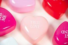 Corazones verdaderos del amor Fotos de archivo