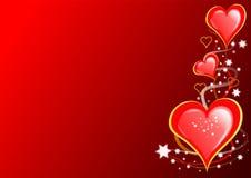 Corazones y estrellas de las tarjetas del día de San Valentín Fotografía de archivo