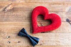 Corazones y flores para el día de tarjeta del día de San Valentín Imagen de archivo