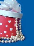 Corazones y perlas Imagen de archivo libre de regalías