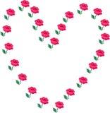 Corazones y rosas Fotos de archivo