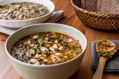 Corbasi Kara Lahana Turkish/капуста черноты или суп листовой капусты Стоковые Фото