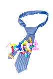 Corbata azul con el globo fotos de archivo