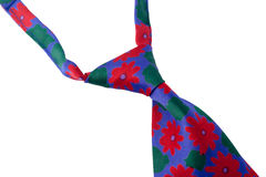 Corbata con la impresión floral Foto de archivo libre de regalías