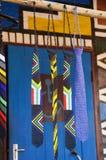 Corbata de la bandera surafricana hecha de gotas coloridas Foto de archivo libre de regalías