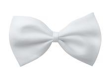 Corbata de lazo blanca Foto de archivo