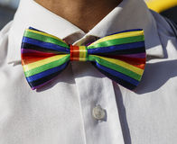 Corbata de lazo de LGBT Imagenes de archivo