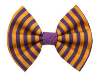 Corbata de lazo hecha a mano aislada Fotografía de archivo libre de regalías
