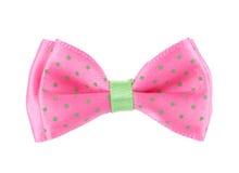 Corbata de lazo rosada Imágenes de archivo libres de regalías
