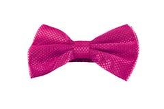 Corbata de lazo rosada aislada en el fondo blanco Imagen de archivo