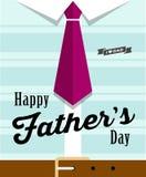 Corbata feliz del día de padres con la camisa azul libre illustration
